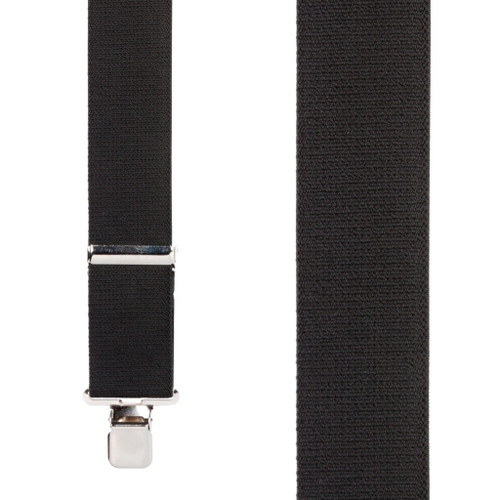 2 Inch Wide Construction Clip Suspenders - BLACK