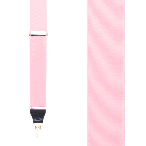 Light Pink Grosgrain CLIP Suspenders