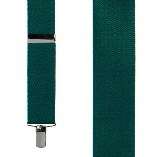 1.5 Inch Wide Clip Suspenders - GREEN