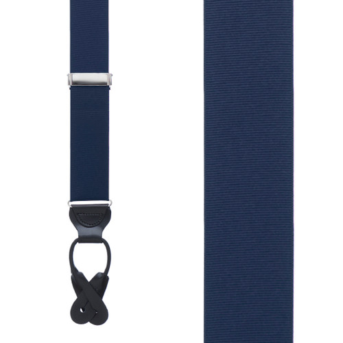 Dark Navy Grosgrain BUTTON Suspenders
