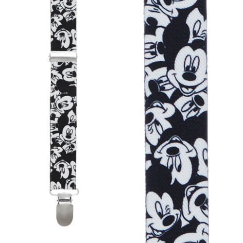 Mickey Mouse Suspenders - BLACK & WHITE