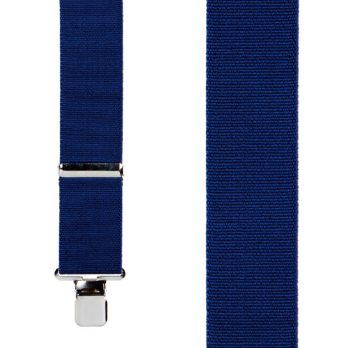 2 Inch Wide Construction Clip Suspenders - NAVY BLUE