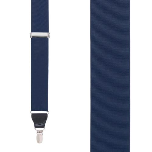 Dark Navy Grosgrain CLIP Suspenders