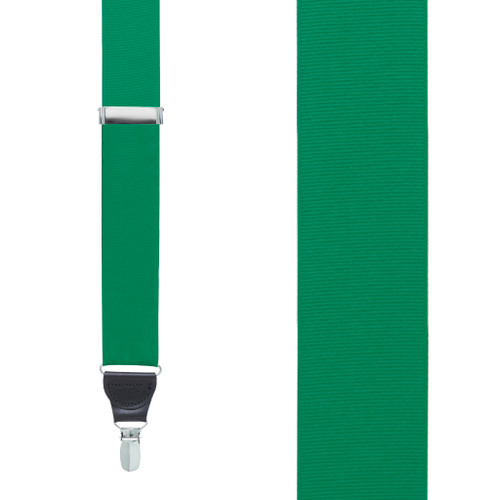 Kelly Green Grosgrain CLIP Suspenders