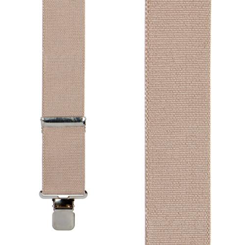 2 Inch Wide Clip Suspenders - TAN