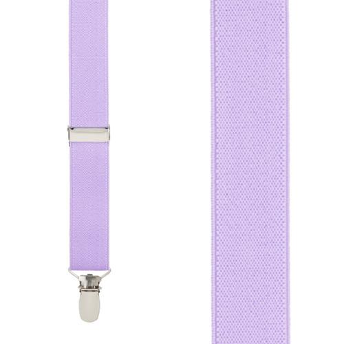 1 Inch Wide Clip Suspenders (Y-Back) - LAVENDER