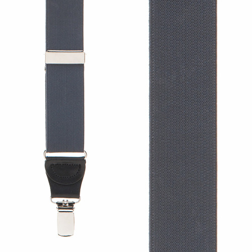 1.25 Inch Wide Y-Back Clip Suspenders - DARK GREY