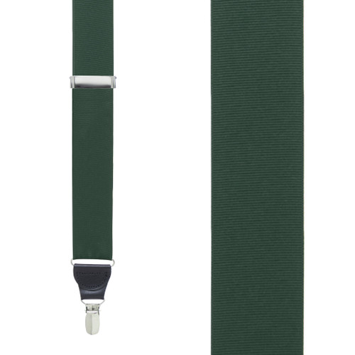 Hunter Green Grosgrain CLIP Suspenders