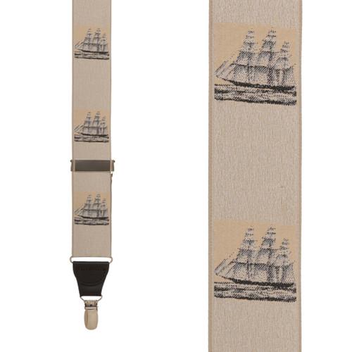 Vintage Ribbon Prior Sail Suspenders - CLIP