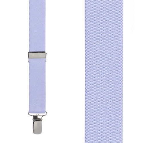 1 Inch Wide Clip Suspenders (X-Back) - LIGHT PURPLE