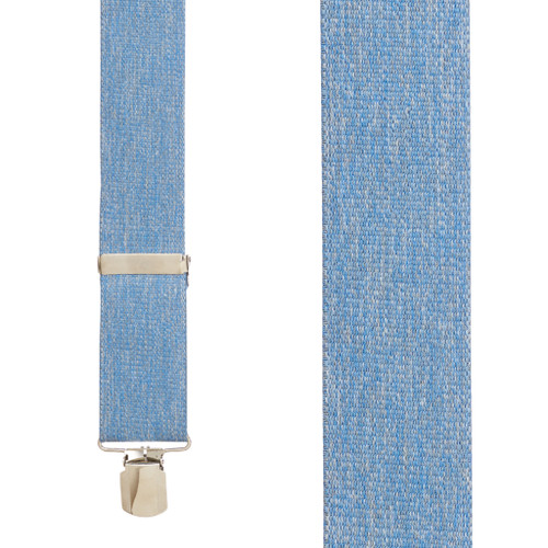 DENIM 2-Inch Wide Pin Clip Suspenders