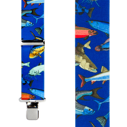 Mixed Fish Suspenders - Construction Clip