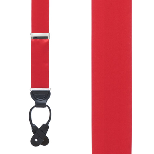 RED Bangkok Silk Suspenders - Button