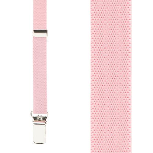 1/2 Inch Wide Skinny Suspenders - LIGHT PINK
