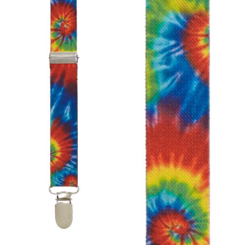 Tie-Dye Swirl Suspenders