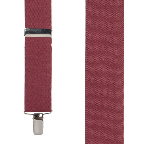 1.5 Inch Wide Clip Suspenders - BURGUNDY