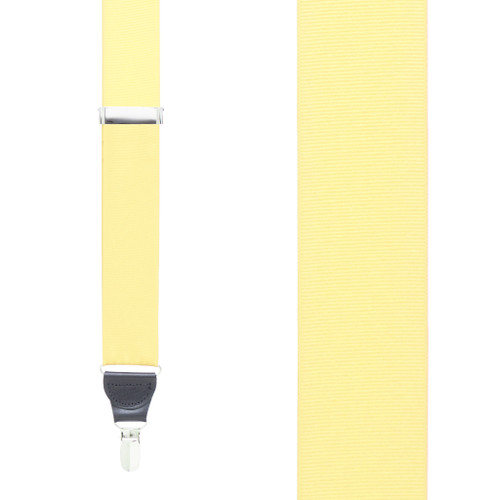Light Yellow Grosgrain CLIP Suspenders