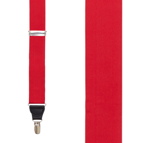 RED Bangkok Silk Suspenders - Clip