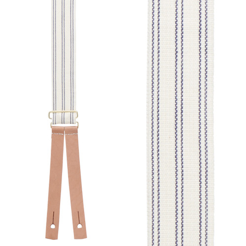 Civil War Suspenders - BLUE Striped