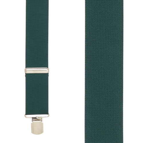 2 Inch Wide Pin Clip Suspenders - HUNTER