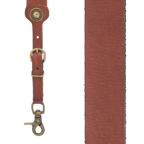 12 Gauge Western All Leather Suspenders