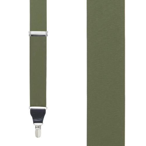 Olive Grosgrain CLIP Suspenders
