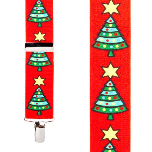 Christmas Tree Suspenders - 1.5 Inch Wide Clip