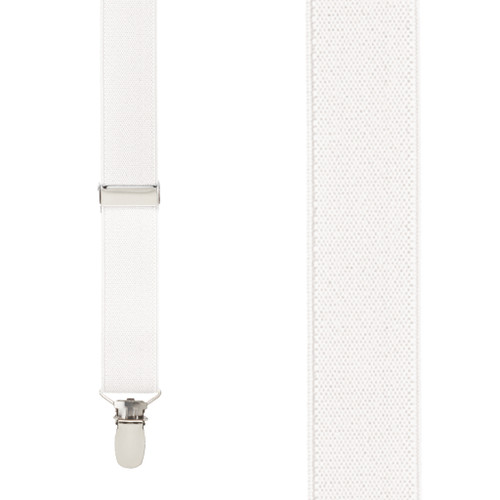 1 Inch Wide Clip Suspenders (Y-Back) - IVORY