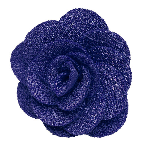 Lapel Flower - ROYAL BLUE Crepe
