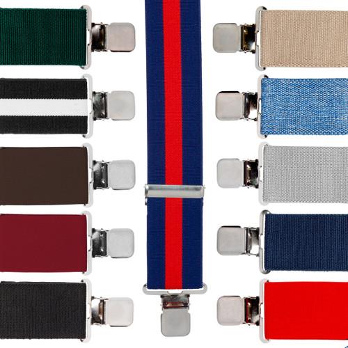 Big & Tall Suspenders - 2 Inch Construction Clip Suspenders