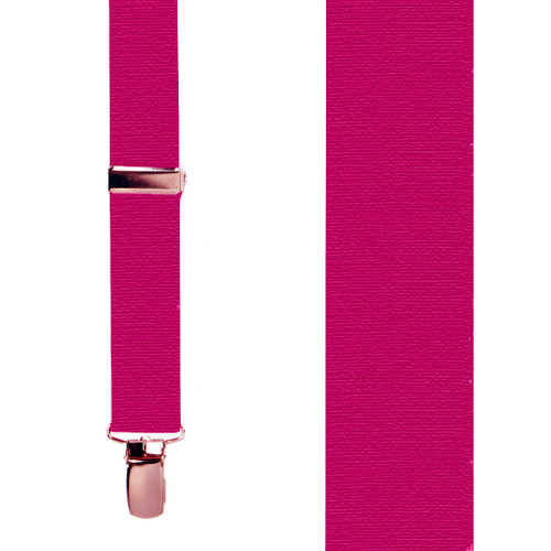 SALE 1 Inch Wide Clip Suspenders (X-Back) - MAGENTA