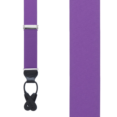 Purple Grosgrain BUTTON Suspenders