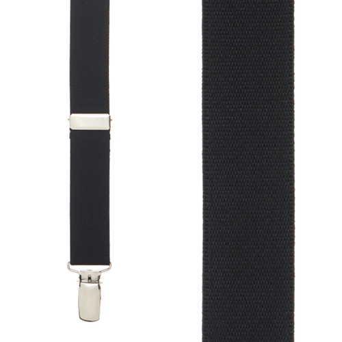 1 Inch Wide (Y-Back) Clip Suspenders - BLACK