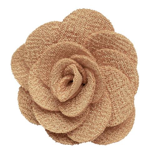 Lapel Flower - TAUPE Crepe