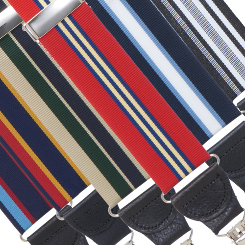Grosgrain Striped Drop Clip Suspenders