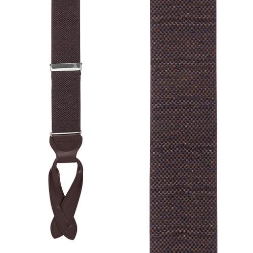 BROWN Canton Silk Tweed Suspenders