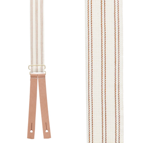 Civil War Suspenders - RED Striped