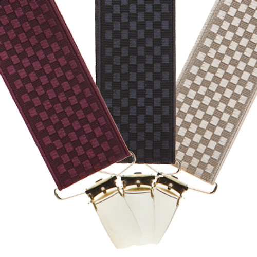Jacquard Checkered Suspenders Sale