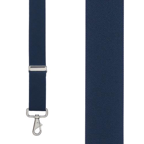 1.5 Inch Wide Trigger Snap Suspenders - NAVY