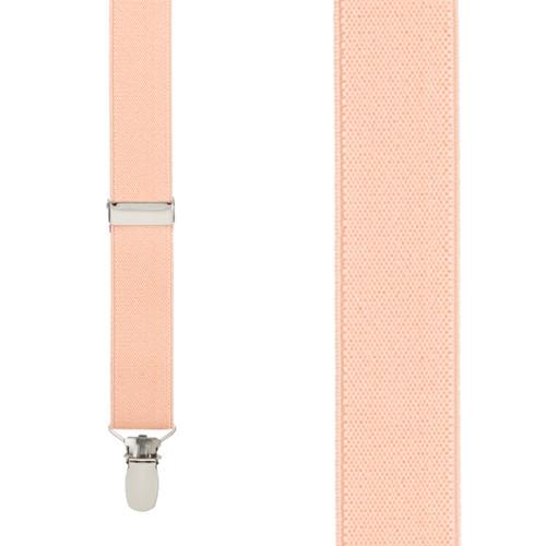 1 Inch Wide Clip Suspenders (Y-Back) - PEACH