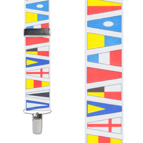 Nautical Flag Suspenders