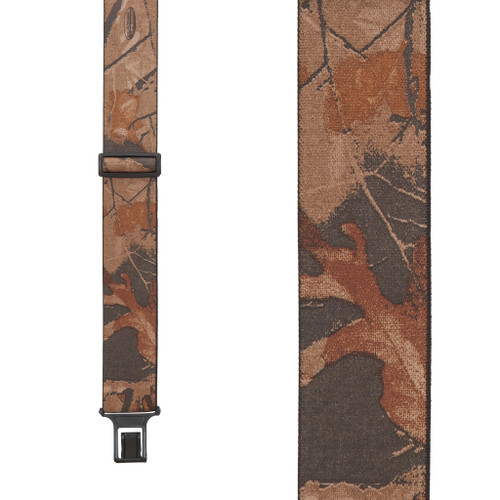Realtree Hardwoods Camo Suspenders - Belt Clip