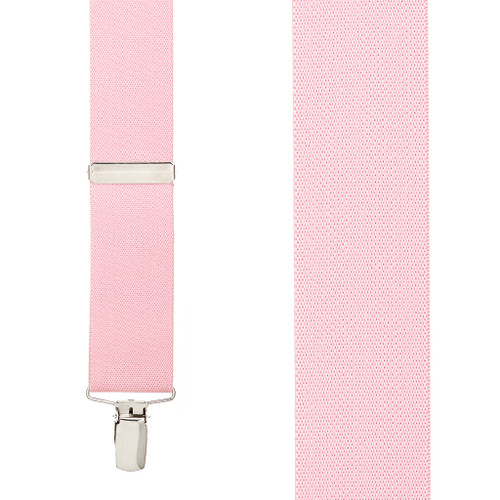 1.5 Inch Wide Clip Suspenders - LIGHT PINK