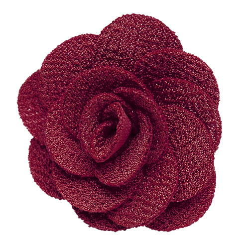 Lapel Flower - BURGUNDY Crepe