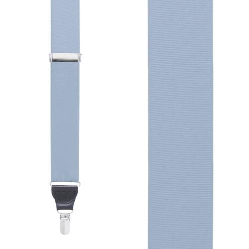 Steel Blue Grosgrain CLIP Suspenders