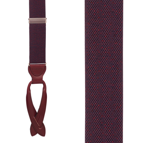BURGUNDY Canton Silk Tweed Suspenders