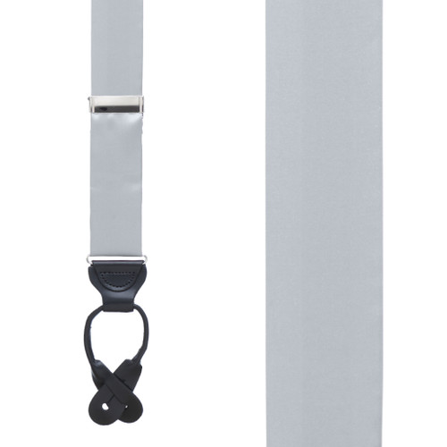 GREY Bangkok Silk Suspenders - Button