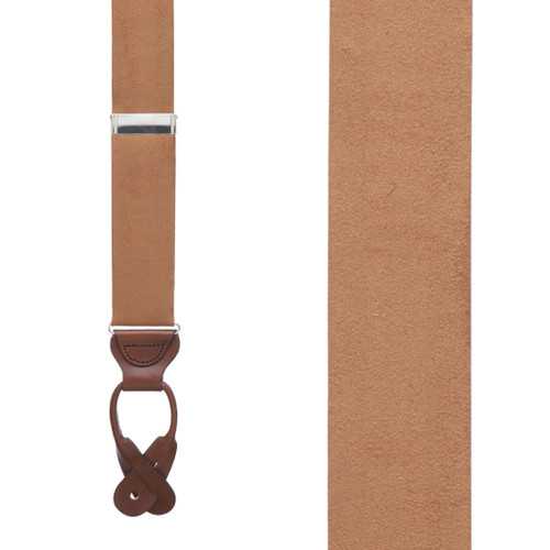 Suede Button Suspenders