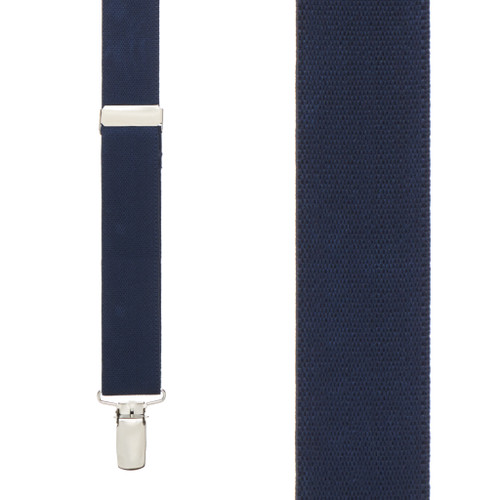1 Inch Wide Clip Suspenders (Y-Back) - NAVY BLUE
