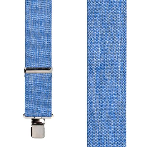 Denim Suspenders - 2 Inch Wide Clip